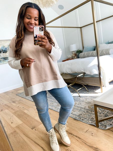 Wearing a size medium in my All in Taupe Tunic from The Mint Julep Boutique. Use code: TARYN20  Reg: $49 With code: $39.20   #LTKstyletip #LTKunder50 #LTKsalealert
