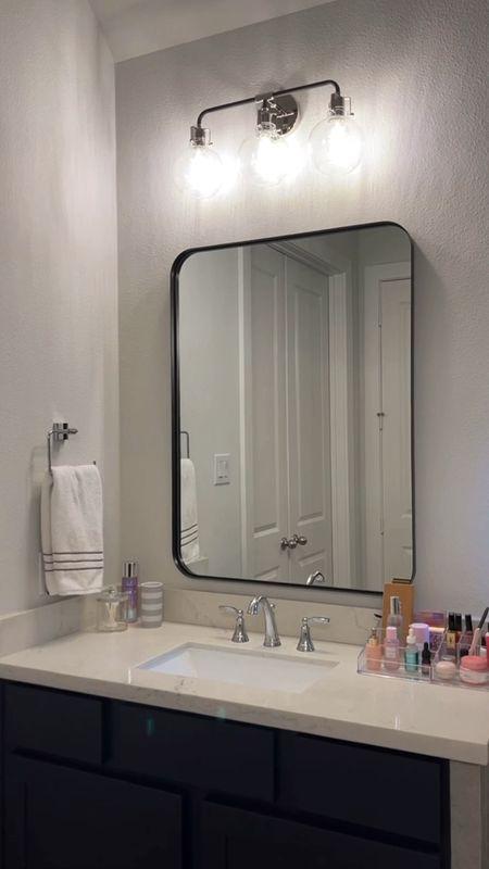 Home decor bathroom mirror lighting   #LTKhome #LTKsalealert #LTKfamily