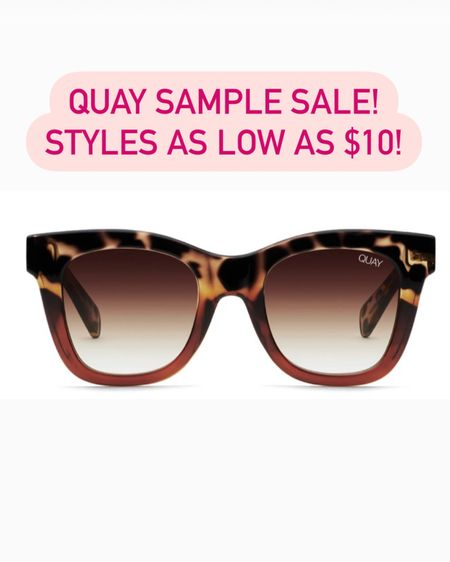Quay Australia sunglasses is having a sample sale! Styles as low as $10! The After Hours shown here is now $19 (down from $55), I have and love these in the black color! http://liketk.it/3kB7V #liketkit @liketoknow.it #LTKsalealert #LTKunder50