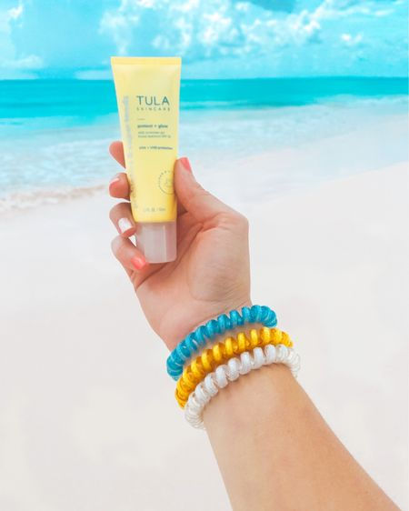 Beach time essentials! Tula's Protect + Glow SPF 30 sunscreen kept my skin protected, hydrated and glowing the entire week. ☀️ I also swear by these Vere hairbands! They stay put, don't damage your hair and are so much more sanitary than traditional fabric-wrapped hairbands. Oh, and they're cute! http://liketk.it/2SQr7 @liketoknow.it #liketkit #LTKunder50 #LTKbeauty #LTKtravel