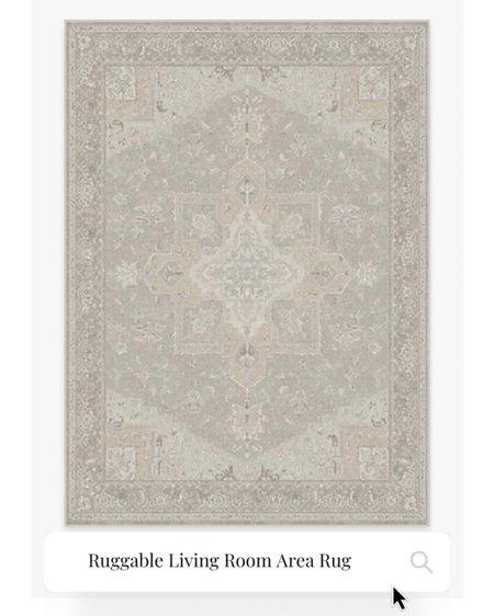 Our Ruggable Area Rug in Maral Heriz Creme, Washable area rug, cream pattern area rug  #LTKSeasonal #LTKhome #LTKfamily