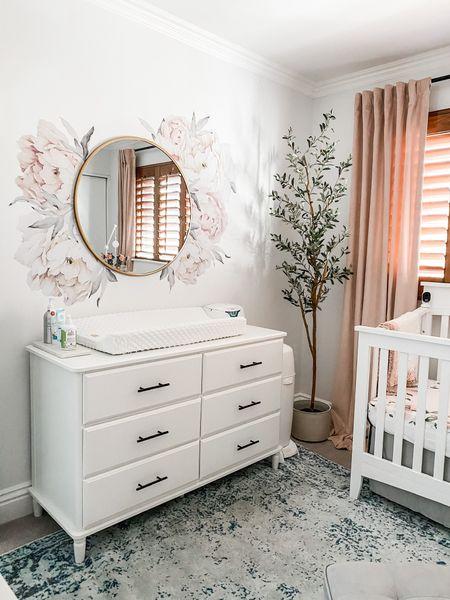 Vivian's nursery 💗 http://liketk.it/3ecAa #liketkit @liketoknow.it  (dresser is Ikea Tyssedal)