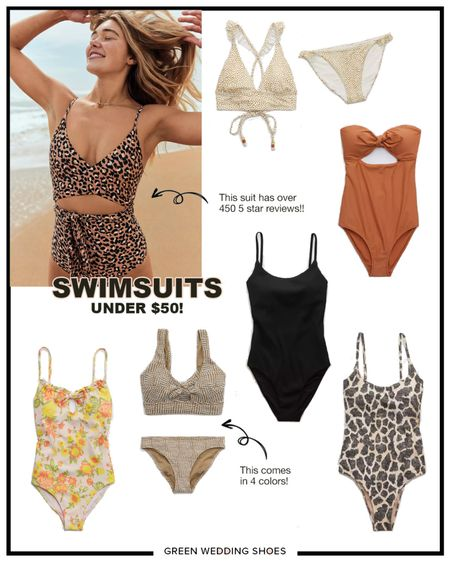 Budget friendly bathing suits - all under $50! And currently 25% off!! Swimsuits made for all body sizes and perfect for honeymoons or beach vacations  Swimsuit #LTKsalealert #LTKtravel #LTKswim http://liketk.it/3g5mw #liketkit @liketoknow.it