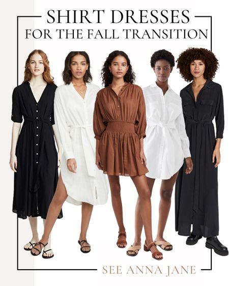 Shirt Dresses For The Fall Transition 🍂  #shirtdress #oversizedshirtdress #falloutfits #shopbop #fallfashion #fallotufitideas #fallstyle  #LTKSeasonal #LTKstyletip