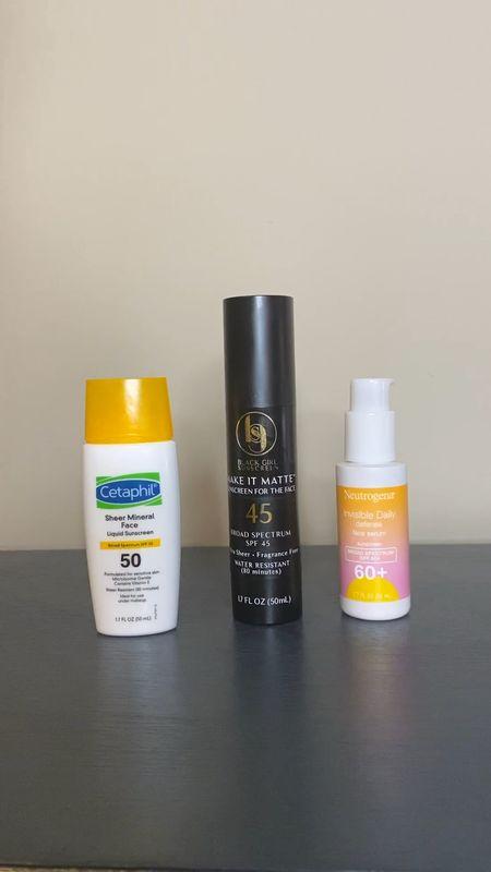 Affordable drugstore sunscreens for oily skin.   #LTKswim #LTKbeauty #LTKunder50