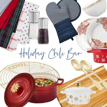 Everything you need to create an amazing holiday chili bar with pieces from Martha Stewart's Macy's collection! On big sale!   #LTKhome #StayHomeWithLTK #LTKsalealert