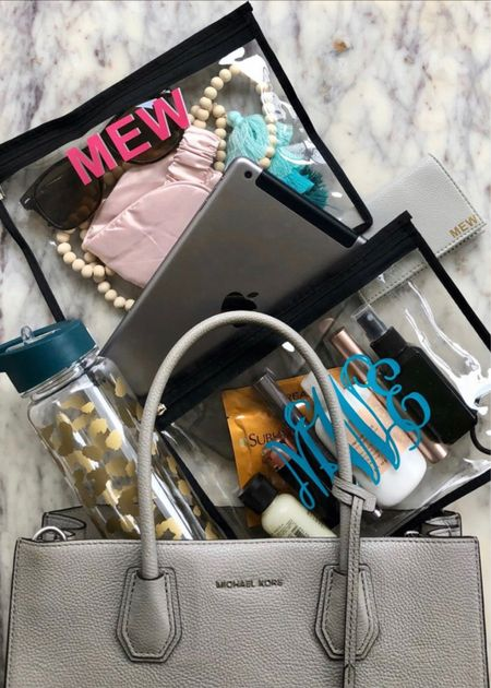 Obsessed with these clear travel pouches.   #LTKtravel #LTKitbag #LTKunder50