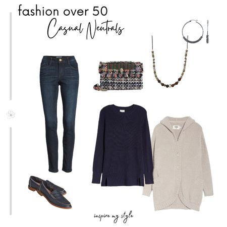 Casual neutrals with denim as the foundation. Comfy, cozy, and versatile. From Nordstrom. #fashionover50 #neutrals #casual #nordstrom #inspiremystyle #liketkit @liketoknow.it http://liketk.it/35SNT Download the LIKEtoKNOW.it app to shop this pic via screenshot