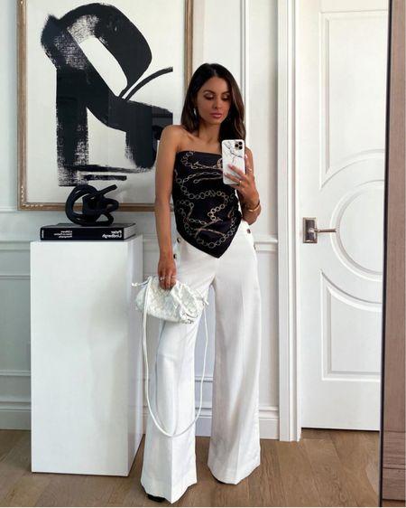 Forever 21 summer outfit  Bandana scarf tie top under $10 Bottega Veneta inspired white bag   http://liketk.it/3ijxW #liketkit @liketoknow.it #LTKunder100 #LTKunder50 #LTKsalealert