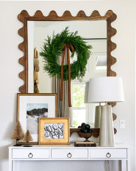 It was about this time last year that I began rehearsing how I would beg Jeff to buy this mirror during @thehouseofbrookandlou Black Friday sale. I knew it was an investment but it was worth begging for! It's an heirloom piece that's polished and pricey, and I've paired it with a console table that looks high end but is from the clearance aisle at Home Goods. High style isn't out of reach if you know how to mix high with low and wait for the right pieces. If you love this mirror, put it on your Black Friday list because that's the best price you'll pay and you'll love it forevermore! . Curious about the sources of things in my home? Download the LIKEtoKNOW.it app, follow Wildflower Home, and you'll have access to it all...even the exclusive content I post there: http://liketk.it/2GPNf @liketoknow.it #liketkit #liketoknowithome