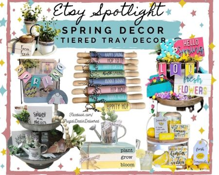 Spring and Easter themed farmhouse decor for tiered trays, shelving, wall decor for living room, kitchen, bathroom etc! Would even work for a master bedroom or nursery! I am loving the colors of pink, blues and yellows! Or more subtle farmhouse of black and white with eucalyptus leaves! Whatever your style get your spring happiness decor ready! It's going to be a great season!  Screenshot this pic to get shoppable product details with the LIKEtoKNOW.it shopping app @liketoknow.it follow FrugalDealsDelivered in the app to see all our product recommendations and collages! http://liketk.it/392nd #liketkit   #LTKSeasonal @liketoknow.it.home #StayHomeWithLTK #LTKhome