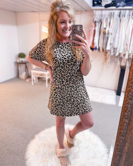 Nightshirt short sleeve nightgown leopard print / size small / Amazon pajamas http://liketk.it/3gbK1 #liketkit @liketoknow.it #LTKbeauty #LTKcurves #LTKunder50