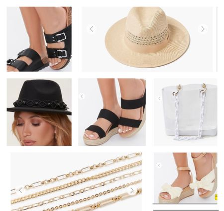 Fedora hats and comfy/ cute sandals for summer. All the summer accessories!   #LTKstyletip #LTKDay #LTKSeasonal