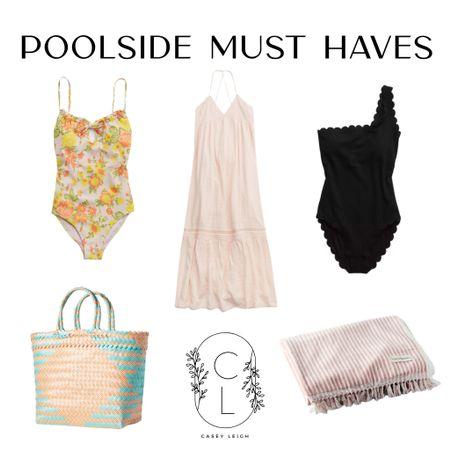 Poolside Must Haves and Beach favorites ☀️🌊✨💞 http://liketk.it/3fmha #liketkit @liketoknow.it #LTKtravel #LTKswim #LTKstyletip