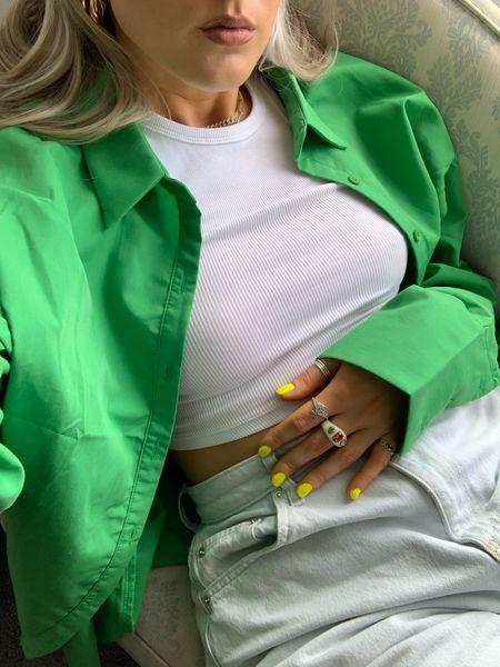 green mood 💚💚💚 shirt is sold out but similar are linked  #LTKstyletip #LTKunder100 #LTKunder50