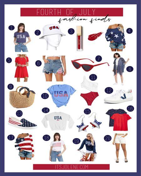 Fourth of July Fashion Finds! (For links to all 22 products visit —> itsjolene.com)   http://liketk.it/3isJB #liketkit @liketoknow.it      #LTKstyletip #LTKSeasonal #LTKunder50