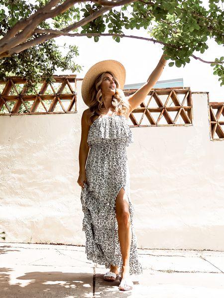 Amazon dress I love! Several colors available! Lack of color straw hat.  http://liketk.it/3gThE #liketkit @liketoknow.it #LTKunder50 #LTKtravel #LTKunder100