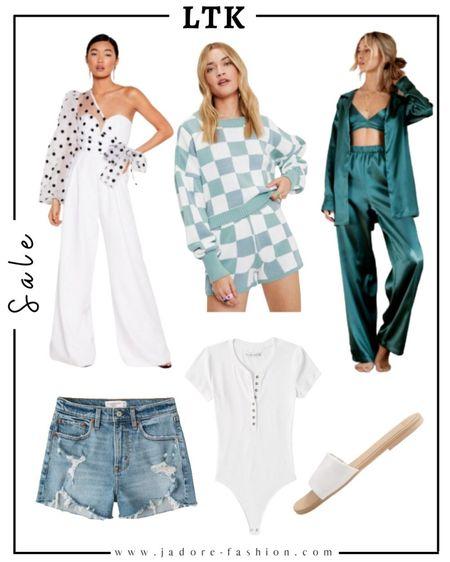 Summer favorites: jumpsuit, pj, loungewear, denim shorts, summer flats and bodysuit   #LTKSeasonal #LTKsalealert #LTKunder50