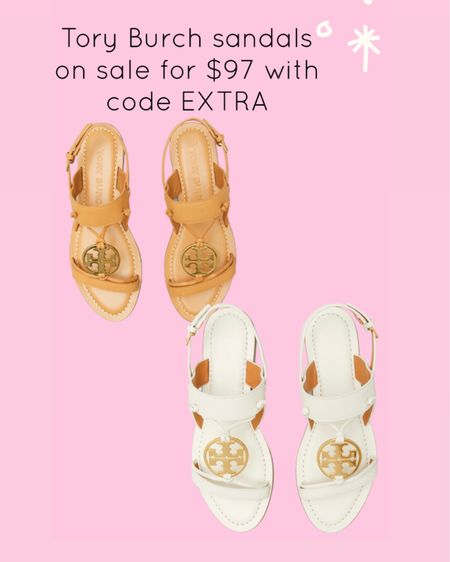 Tory Burch sandals on sale for $97 with code EXTRA http://liketk.it/3hSrU #liketkit @liketoknow.it #LTKshoecrush #LTKsalealert