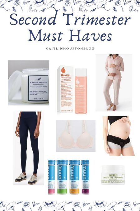 Second trimester pregnancy essentials - what to buy for your second trimester - pelvic support belt, maternity leggings, maternity pajamas, stretch mark oil and more   #LTKunder50 #LTKbump #LTKbaby