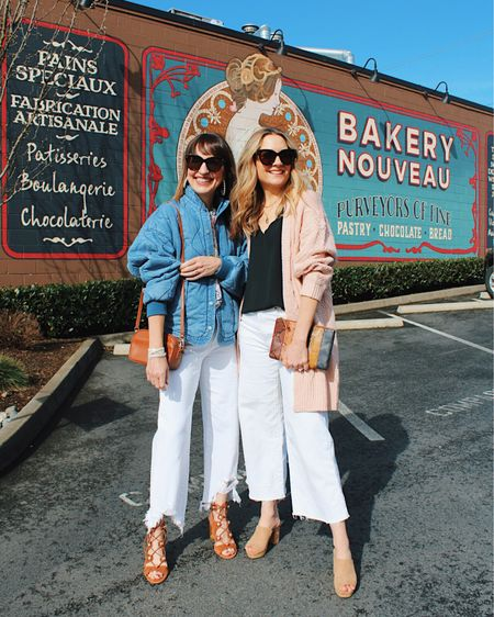 We're pretty picky when it comes to white denim—they have to have the perfect fit!👌🏼🤍 This week we've been teaming up with other style bloggers we LOVE to share how we style our favorite white jeans!🤗 Be sure to watch our stories TODAY to see how we style our favorite pairs—like these chewed hem and wide leg styles!👏 You can shop these white denim outfit details on the @liketoknow.it app! Happy Friday Eve!!🎉🥳 #liketkit http://liketk.it/3aeaq #LTKunder100 #LTKstyletip #LTKSeasonal   White denim Wide leg cropped jeans 7 for all Mankind  Blank NYC jacket Spring outfit Casual outfit Chewed hem denim