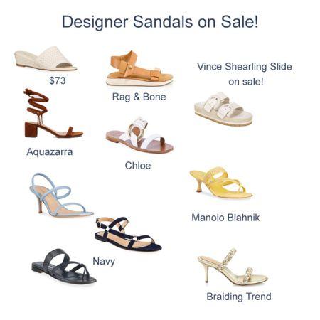 Designer Sandals on sale for spring, summer and spring break!   #LTKshoecrush #LTKSeasonal #LTKsalealert
