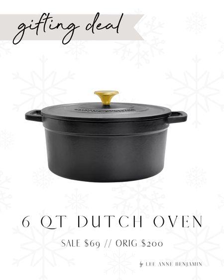 6 QT cast iron dutch oven $130 off! Mother or MIL gift idea!  Sale $69 // Reg $199  #LTKSeasonal #LTKHoliday #LTKGiftGuide