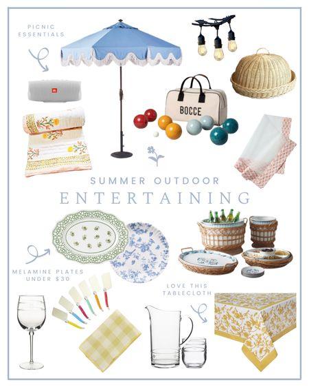 Summer outdoor entertaining, patio decor, picnic essentials   #LTKSeasonal #LTKhome #LTKunder100