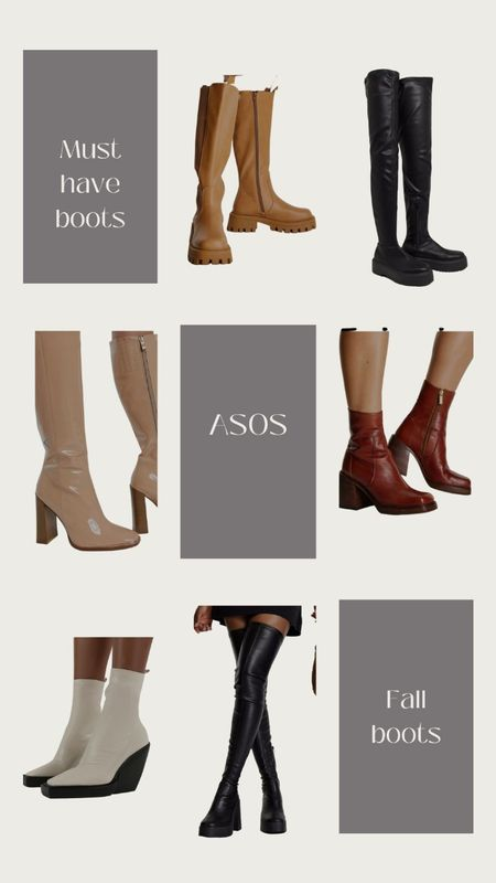 Must have boots/booties have arrived for this fall season. Asos has a variety of both wide fit and regular to fit your needs. The over the knee chunky boots are my favorite to pair with dresses and skirts this season.   #LTKunder100 #LTKshoecrush #LTKSeasonal