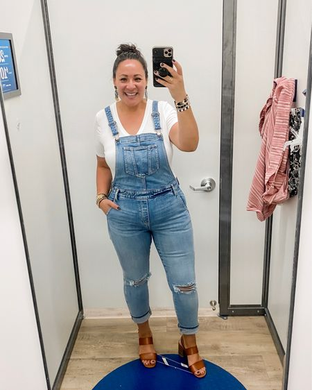 Super cute fitted overalls. I'm wearing size 12, my normal size. For a loose fit, size up. http://liketk.it/2RsqQ #liketkit @liketoknow.it #LTKcurves #LTKstyletip #LTKunder50