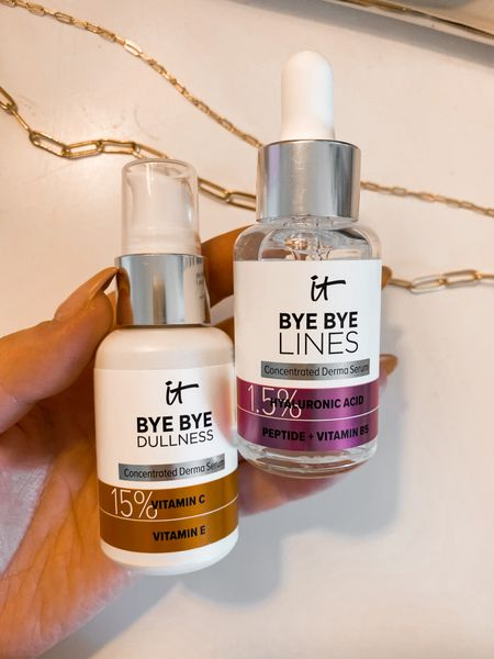 New ItCosmetics serums I've been using AM & PM! Have always loved their skincare and so far really enjoying these two!