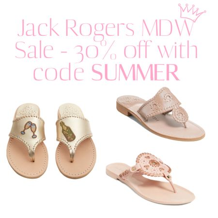 JACK ROGERS is having their MEMORIAL DAY SALE and it's really good! Take 30% off select sandals with code SUMMER. I got the champagne ones a few weeks back and have been loving my other two: classic Jacks and jelly slides! http://liketk.it/3gfhe #liketkit @liketoknow.it #LTKsalealert #LTKunder100 #LTKshoecrush