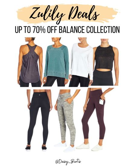 Up to 70% off Balance Collection @zulily !! Leggings and sports bras as low as $12!!!     #LTKGiftGuide #LTKfit #LTKsalealert