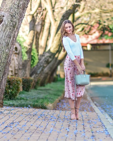 Satin skirt spring outfit http://liketk.it/3biTd #liketkit @liketoknow.it #LTKSpringSale #LTKstyletip #LTKitbag
