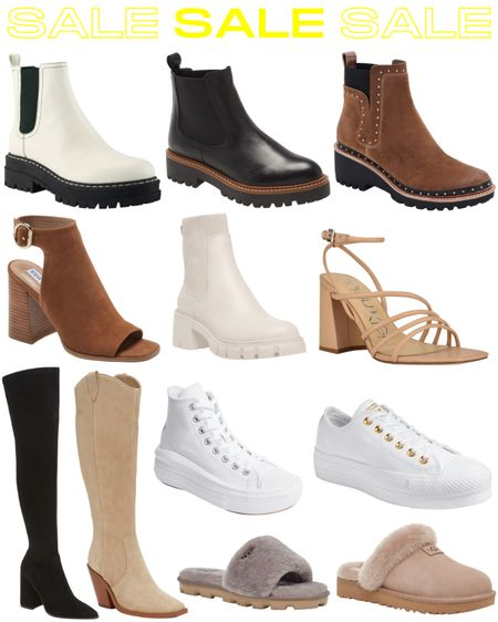 Sooo many good shoes are part of the Nordstrom sale! Tory Burch, Steve Madden, Converse, UGG and more! #booties #chelseaboots #otkboots #suedebooties #strappyheels #whitesneakers   #LTKsalealert #LTKshoecrush #LTKunder100
