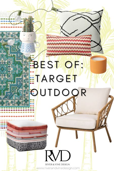Suns out, *all of the cutest outdoor furniture and decor that I can fit into my car*'s out ☀️  Loving Targets outdoor options for summer, so I've put together a quick roundup of my favorite's!  .  http://liketk.it/3cY6d #liketkit @liketoknow.it #LTKstyletip #LTKunder100 @liketoknow.it.home Screenshot this pic to get shoppable product details with the LIKEtoKNOW.it shopping app!
