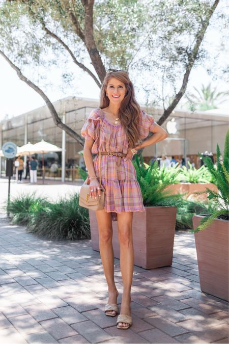 Belt it with a heel OR keep it simple with a sneak- either way this pastel plaid dress is so fun! Love the colors & the cute little sleeves. Its so comfy & such a wearable piece for Summer. Wearing XS and its a roomy fit! Shop it all by following me in the @liketoknow.it app & have a fab fab Monday! http://liketk.it/3i55C  #liketkit #LTKshoecrush #LTKstyletip #LTKunder100   #freepeople #freepeoplestyle