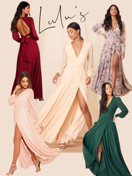 Holiday Dress Ideas Lulus dresses  Maxi dresses  Long sleeve dress Holiday dress Party maxi dress   #LTKwedding #LTKunder100 #LTKstyletip