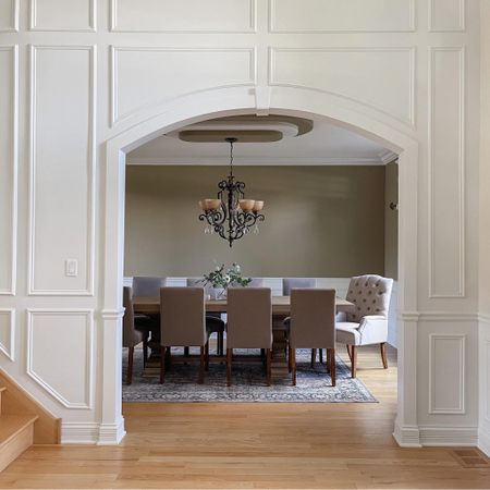 Formal dining room ✨ dining table, chairs, rug