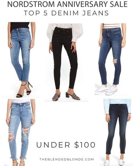My top 5 denim picks from the #nordstromanniversarysale 😍 These styles are going FAST! http://liketk.it/2wwsS @liketoknow.it #liketkit #LTKsalealert #LTKstyletip #LTKunder50 #LTKunder100 #LTKcurves