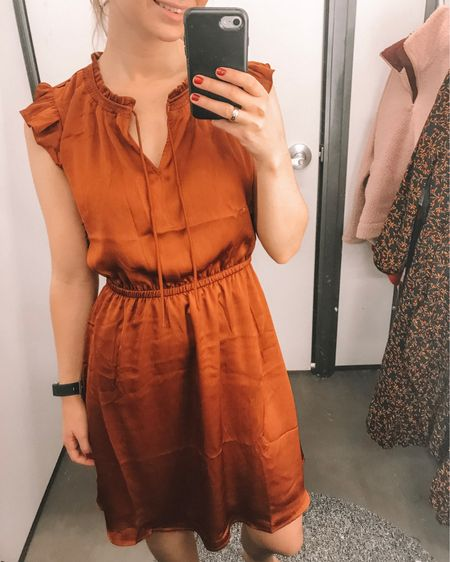 So this dress is perfect for Thanksgiving and any events your going to this Christmas! It's the perfect burnt orange color and has a shine to it! Old Navy is having a 40% off sale until 11.20! http://liketk.it/2yhbJ #liketkit @liketoknow.it #LTKunder100 #LTKunder50 #LTKstyletip #LTKsalealert