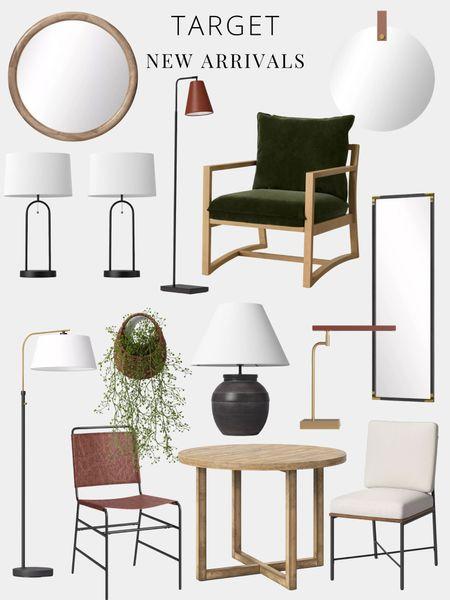 Target, chair, dining, table, lamps, light, mirror, plant  #LTKhome #LTKsalealert #LTKSeasonal