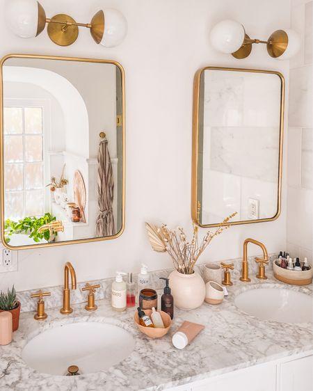 Bathroom vanity favorites + some brass accents http://liketk.it/3eXEJ #liketkit @liketoknow.it #LTKhome @liketoknow.it.home