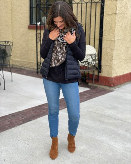 Casual fall outfit - Everything is true to size. Wearing a small in the sweater and 4 in the jeans. http://liketk.it/2Z2Dw #liketkit @liketoknow.it