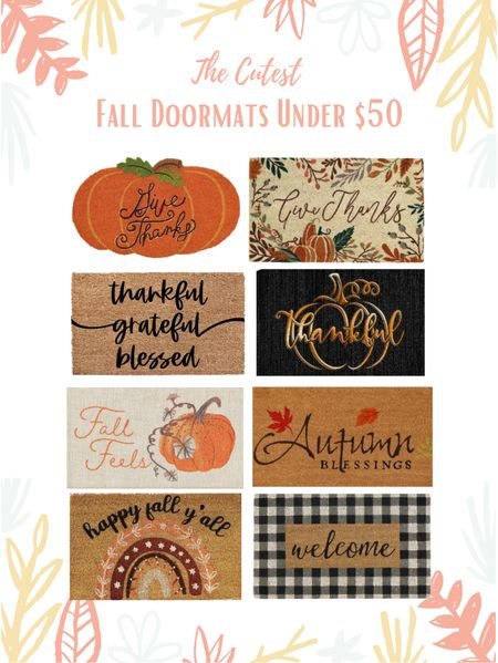 Fall doormat, doormats, fall decor, personalized doormats, autumn doormats, front porch decor, entryway decor, thanksgiving doormats, holiday doormats, pumpkin doormat  🎃 Head to EMPTYNESTBLESSED.com to check out more fall doormats under $50, and discover the new trend everyone is talking about!   #LTKSeasonal #LTKhome #LTKunder50