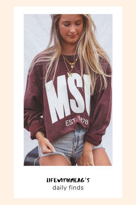 Collegiate corded sweatshirts SEC. ordered medium.   #LTKunder100
