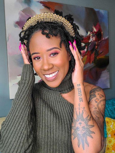 Crop top  Turtleneck  headbands  one shoulder top  shein  green tops  sweater  Turtleneck sweater  knit tops  gold headbands  beaded headbands   #LTKunder50 #LTKunder100 #LTKsalealert