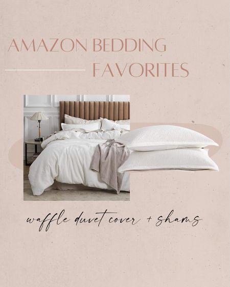 Amazon bedding favorites: waffle weave duvet cover ✨ http://liketk.it/3iSN0 #liketkit @liketoknow.it #LTKhome #LTKunder50 #LTKunder100   Amazon, Amazon home, home decor, home inspo, bedding