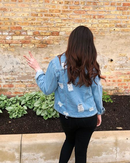 You can't save a damsel if she loves her destress(ed) denim jacket 🙌🏻🤣 Mega mega points for anyone who knows where that (altered) quote comes from! 👇🏼 But in all serious, I'm pretty much living in my @sheinofficial ripped denim jacket these days! 💙 http://liketk.it/2Cr21 #liketkit @liketoknow.it #LTKunder50