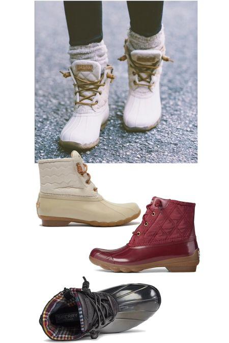 Sperry boots on sale for up to 50% off!   #LTKunder100 #LTKSeasonal #LTKsalealert